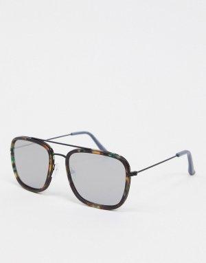 Солнцезащитные очки черепаховой расцветки -Коричневый New Look