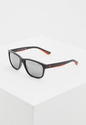 Очки солнцезащитные Polo Ralph Lauren PH4142 57326G. Цвет: черный