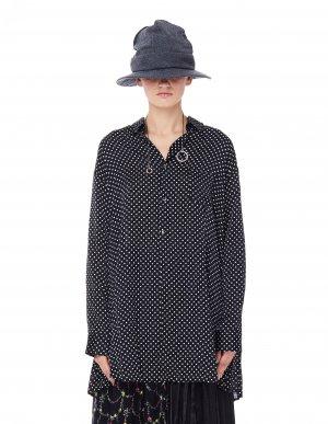 Удлиненная блузка в горох Junya Watanabe