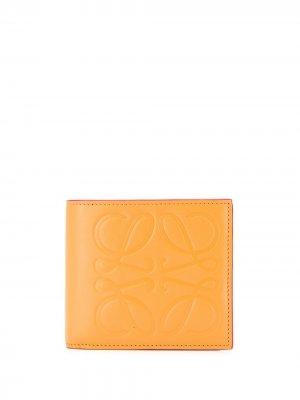 Бумажник с тисненым логотипом Loewe. Цвет: нейтральные цвета