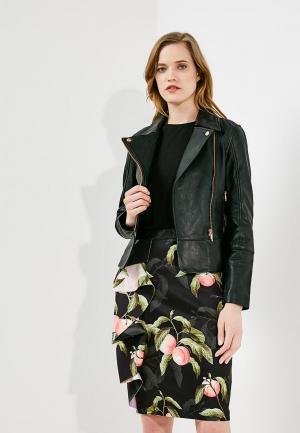 Куртка кожаная Ted Baker London TE019EWZVO00. Цвет: черный