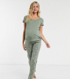 Шалфейно-зеленая пижама Mamalicious Maternity-Мульти Mama.licious