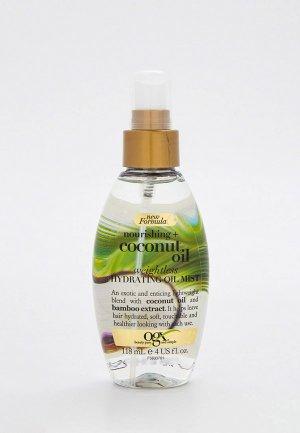 Спрей для волос Ogx Увлажняющий, сухих и поврежденных волос, с кокосовым маслом, 118 мл. Цвет: прозрачный