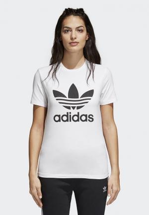 Футболка adidas Originals Trefoil Tee. Цвет: белый