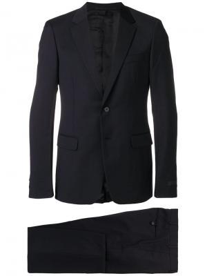 Однобортный костюм Prada. Цвет: синий