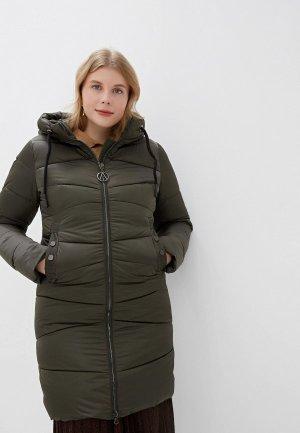 Куртка утепленная Vagi. Цвет: хаки
