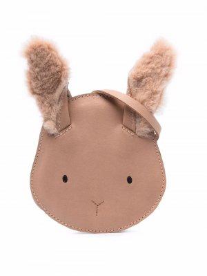 Britta leather shoulder bag Donsje. Цвет: нейтральные цвета
