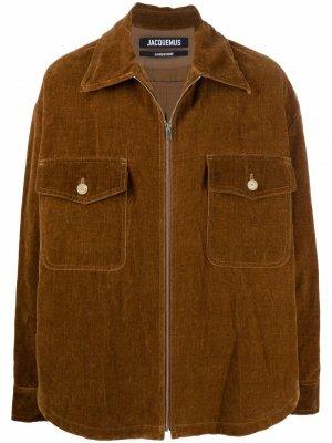 Куртка-рубашка с воротником Jacquemus. Цвет: коричневый