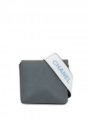 Поясная сумка Sports 1998-го года с логотипом Chanel Pre-Owned. Цвет: серый