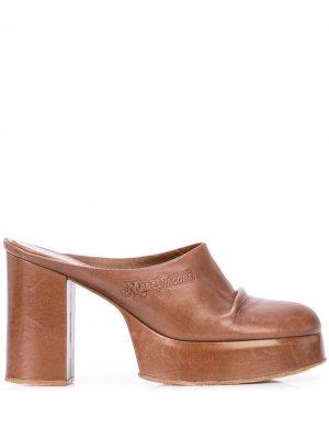 Сабо на высоком каблуке Marc Jacobs. Цвет: коричневый