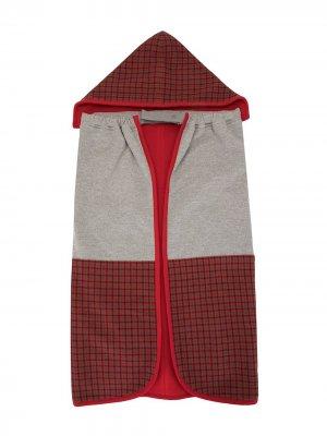 Спальный мешок в клетку Familiar. Цвет: красный