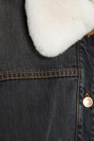 Джинсовая куртка с вышивкой на спине Eleane Isabel Marant. Цвет: серый