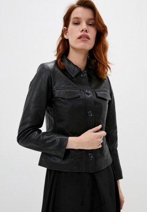 Куртка кожаная Zadig & Voltaire LIAM CUIR PERM. Цвет: черный