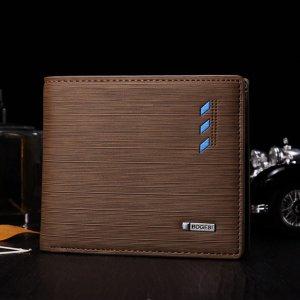 Мужской Маленький кошелек минималистичный SHEIN. Цвет: коричневые