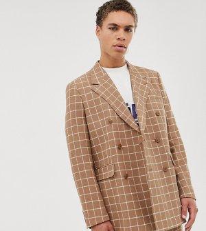 Светло-бежевый двубортный пиджак Noak