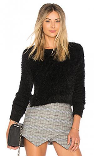 Укороченный свитер majesty MAJORELLE. Цвет: черный