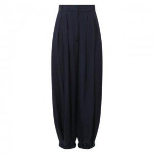 Шелковые брюки Tibi. Цвет: синий