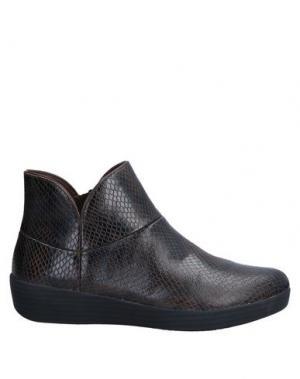 Полусапоги и высокие ботинки FITFLOP. Цвет: темно-коричневый