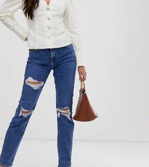 Рваные джинсы в винтажном стиле Сhicago-Синий New Look Tall