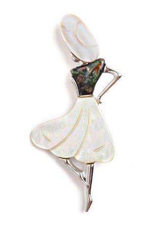 Брошь-кулон FRANSUA ARDY. Цвет: бежевый