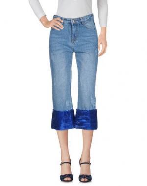 Джинсовые брюки-капри MUST. Цвет: синий