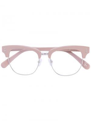 Очки в половинчатой оправе Stella Mccartney Eyewear. Цвет: телесный