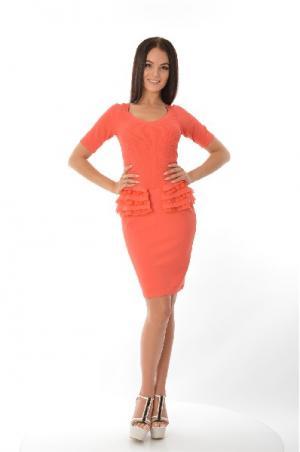 Платье D. Exterior. Цвет: оранжевый