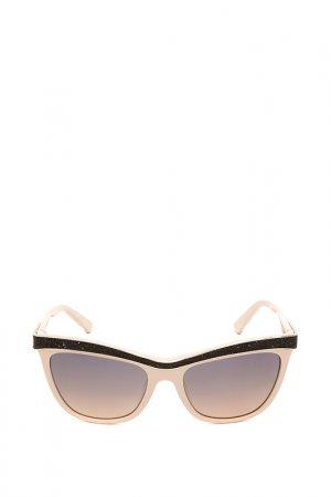Очки солнцезащитные с линзами Swarovski. Цвет: 72в коричневый