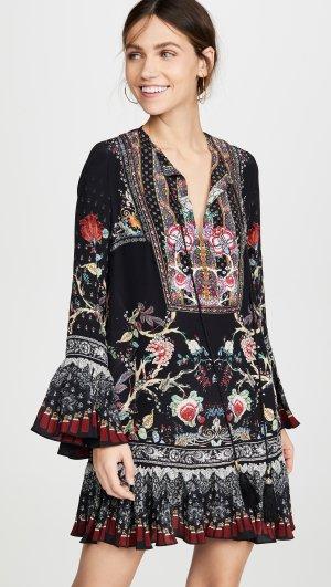 Frill Hem Long Sleeve Dress Camilla