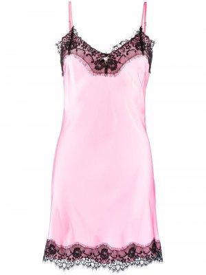 Ночная сорочка с логотипом Blugirl. Цвет: розовый