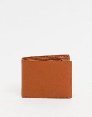 Коричневый бумажник -Коричневый цвет Fenton