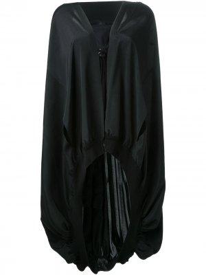 Накидка-кейп с капюшоном Yohji Yamamoto. Цвет: черный