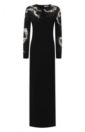 Шерстяное платье Givenchy. Цвет: черный