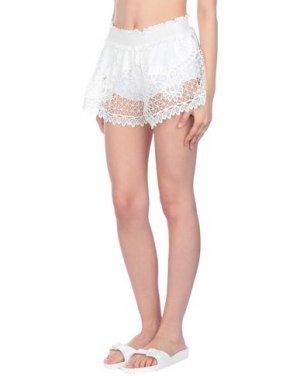 Пляжные брюки и шорты AGOGOA. Цвет: белый