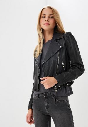 Куртка кожаная Diesel DI303EWAISP7. Цвет: черный