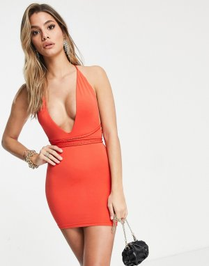 Оранжевое вечернее облегающее платье Mars Label-Красный the Label