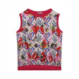 Жилет из хлопка и шелка Dolce & Gabbana. Цвет: разноцветный