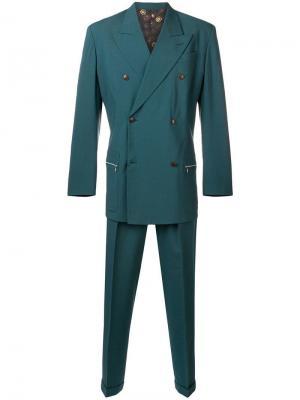 Двубортный костюм-двойка Jean Paul Gaultier Vintage. Цвет: зеленый