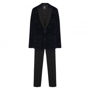 Костюм из пиджака и брюк Dal Lago. Цвет: синий