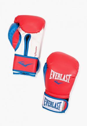 Перчатки боксерские Everlast Powerlock. Цвет: красный