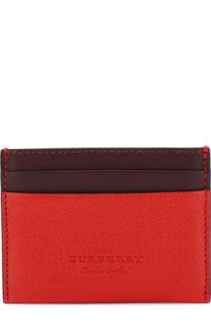 Кожаный футляр для кредитных карт Burberry. Цвет: красный
