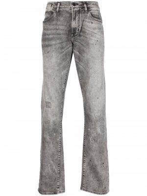 Прямые джинсы средней посадки John Varvatos. Цвет: brre