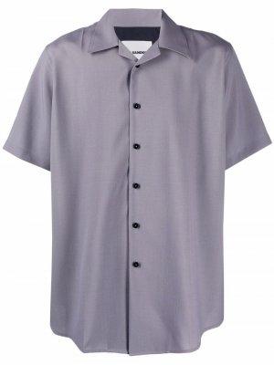 Рубашка с короткими рукавами Jil Sander. Цвет: серый