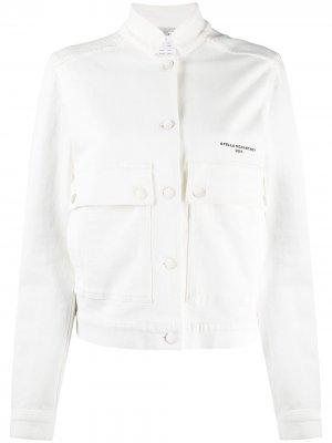 Джинсовая куртка с воротником-стойкой Stella McCartney. Цвет: белый