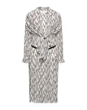 Платье миди SALVATORE FERRAGAMO. Цвет: слоновая кость