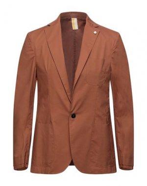 Пиджак GAZZARRINI. Цвет: желто-коричневый