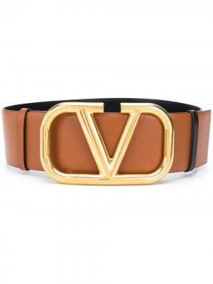 Ремень с логотипом VLogo Valentino Garavani. Цвет: коричневый