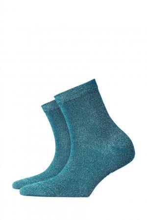 Бирюзовые носки Ladywell Burlington. Цвет: зеленый