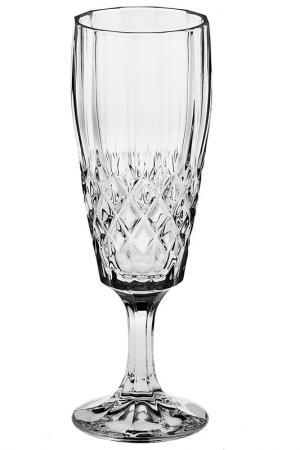 Рюмка для шампанского, 2 шт CRYSTAL BOHEMIA. Цвет: белый