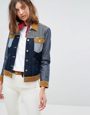 Джинсовая куртка в стиле вестерн x Peter Max Wrangler. Цвет: синий